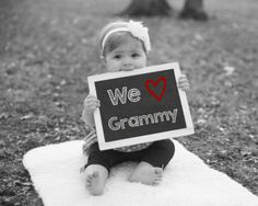 We Love Grammy, Printable Chalkboard Sign, Baby Photo Prop, Gift For Grammy, Mother's Day Gift, Grandparents Day Gift, New Grandma Gift by PrintsInspiredByMyah on Etsy