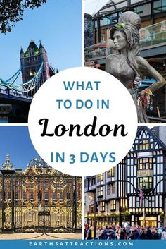 What to do in London in 3 days. London, UK, has numerous attractions and it's hard to choose what to see and do in London on a short trip. This perfect 72 hour London itinerary includes famous London attractions and secret London gems. #london #uk #greatbritain #europe #londonitinerary #londontrip #earthsattractions #traveleurope #3daylondon