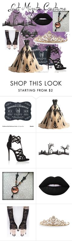 """Halloween"" by julia-muller-ii ❤ liked on Polyvore featuring Giuseppe Zanotti, Crate and Barrel, Lime Crime, BillyTheTree and Cara"