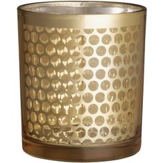 H&M Glass tealight holder (£2.99) ❤ liked on Polyvore featuring home, home decor, candles & candleholders, gold, glass tealight holders, glass tea light holders, glass tealight candle holders and glass home decor