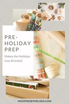 Pre-Holiday Prep Makes the Holidays Less Stressful Budget Holidays, Holiday Stress, Out To Lunch, Make A Gift, Pen And Paper, Organization Hacks, Small Gifts, Are You The One, Gift Tags