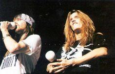 Sebastian Bach (Skid Row) with Axl Rose of Guns n' Roses
