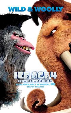 Ice Age: Continental Drift Movie Poster ( of Ice Age Movies, Good Movies, Real Movies, Classic Movie Posters, Film Posters, Drift Movie, Ice Age 4, Adventure Film, Movie Prints