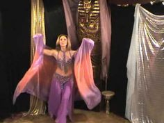 Very simple belly dance veil choreography by Amustela - YouTube (I love me some Eddie the Sheik.)