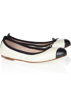Bloch, Contrast-trimmed Leather Ballet Flats, $125.00