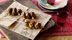 Beef and spring onion skewers recipe : SBS Food