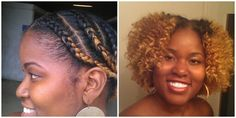 Natural hair style - Braid Out. Only used leave in conditioner, carrot oil and shea butter.