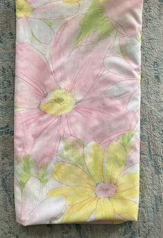 Vintage Cannon Heavenly Daisy Full Flat Sheet Pink Yellow Floral Percale Vintage Bedding, Flat Sheets, Cannon, Pink Yellow, Heavenly, Daisy, Flaws, Floral, Ebay