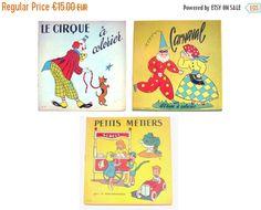 3 livres à colorier . Lot albums de coloriage . Carnaval, Le Cirque & Petits…