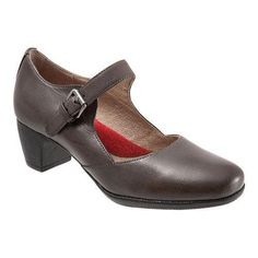 Women's SoftWalk Irish Mary Jane Dark Veg Kid Leather (US Women's 6 N (Narrow))