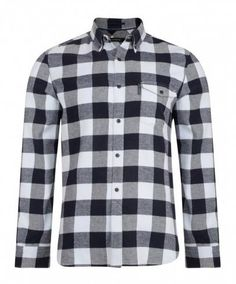 French Connection Long Sleeve Checked Pop Flannel  Men's Shirt.