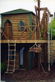 Adventure Playground rope ladders and pullies