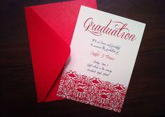 graduation announcements templates feminine style design bow