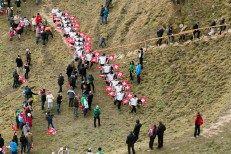 Trychlergruppe Unterägeri | FIS Skispringen Weltcup | Engelberg / Schweiz | Fotograf Kassel http://blog.ks-fotografie.net/pressefotografie/weltcup-skispringen-engelberg-schweiz-2014-pressebildarchiv/