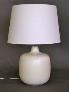Large Pair of Lotte Bostlund Stoneware Table Lamps c.1950s | From a unique collection of antique and modern table lamps at http://www.1stdibs.com/furniture/lighting/table-lamps/