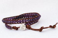 Amethyst Wrap Bracelet Choker