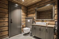 33 Awesome Rustic Style Winter Bathroom Decoration Ideas - Now that there is a slight chill in air and winter is well on its way, this would be a good time to start preparing the bathroom for that long cold se. Rustic House, Cabin Style, Bathroom Decor, House Bathroom, Cabin Bathrooms, Rustic Bathrooms, Rustic Style, Ranch House, Modern Cabin