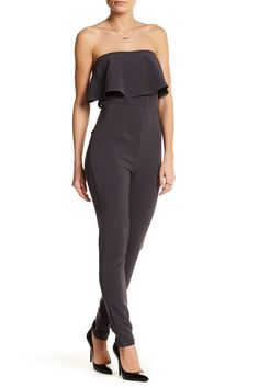 Flounce Strapless Jumpsuit by BLVD on @nordstrom_rack