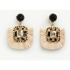 Ann Taylor Raffia Earrings ($50) ❤ liked on Polyvore featuring jewelry, earrings, pina colada, braid jewelry, post earrings, beaded jewelry, beading jewelry and earring jewelry