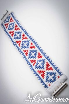 White by JejGumisiowosc Loom Beading, Friendship Bracelets, 4th Of July, Beads, Trending Outfits, Unique Jewelry, Handmade Gifts, Etsy, Vintage