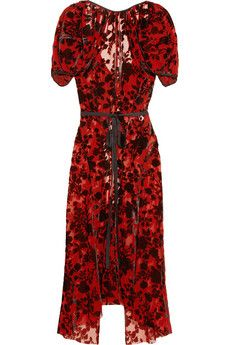 Junya Watanabe Floral velvet-jacquard dress | THE OUTNET