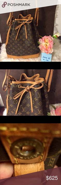 "Authentic Louis Vuitton Noe Gm 🌹bundles for discounts or find me on FB for lesser price #jane2LVoe Luxury purses 🌹   Datecode: AR 0966 Made in France Approx 14""H x 10""L x7""D 👉Excellent used condition  👉No tears or cracks on the canvas  👉Clean inside, no odor 👉Leather trims has hairline cracks, darkened 👉minor rubbed, marks, stain on bottom area  🚫trades🚫 Louis Vuitton Bags Shoulder Bags"