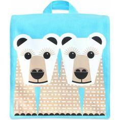 Ce sac à dos MIBO Ours Blanc de la collection Save Our Species de Coq en pâte est en canvas épais et fin pour la doublure en 100% coton biologique certifié GOTS.