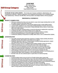 Resume Skills And Ability | Robert Wing's Resume | Technical ...