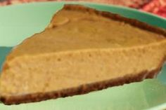 No Bake Pumpkin Cheesecake from Food.com:   								This is a delicious, light textured, no bake pumpkin cheesecake that is very easy to prepare. We make this every Thanksgiving. Use canned pumpkin pie mix that comes prepared with spices and sugar. Don't use plain 100% canned pumpkin for this recipe.