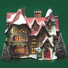 """Department 56: Products - """"Santa's Workshop"""" - View Lighted Buildings"""