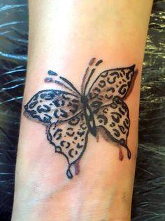 Leopard Butterfly Tattoo Idea