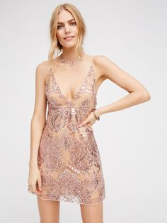Free People | Night Shimmers Mini Dress ($141.48 CAD)