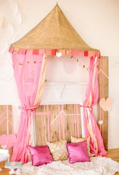 Pink, gold & glittery Valentine's party ideas   Bachelorette + Shower, Styled Shoots   100 Layer Cake