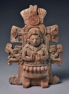 Mayan rattle depicting a goddess, 600–800 AD