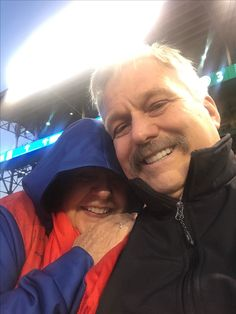Never been to baseball in June where we were freezing ... cubs game