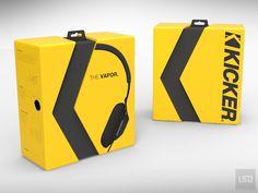 Kicker headphone packaging design, Over-The-Ear Stereo Headphone, headphone,LifeStyleDesign