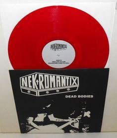 "NEKROMANTIX dead bodies 12"" Record limited RED Vinyl , Punk , rancid records #PunkNewWaveRockabillyPsychobilly"