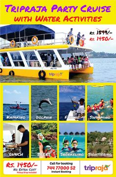 Best Cruise List and Booking Guide - Monsoon Goa 2019 - travel inspiration - Cruise Travel, Travel And Tourism, Best Cruise, Adventure Activities, Water Activities, Tourist Places, Boat Tours, Amazing Adventures, Beautiful Islands