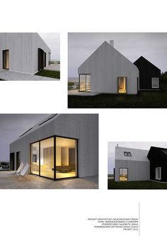 Beautiful Architecture, Contemporary Architecture, Architecture Details, Interior Architecture, Bauhaus, Modern Barn, Prefab Homes, House Roof, Residential Architecture