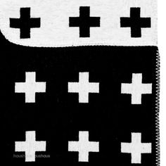 Pia wallen black cotton blanket