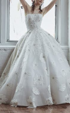 e2a169b7f Strapless ball gown with beaded floral embroidery. | Isabelle Armstrong |  Style: Anastasia White
