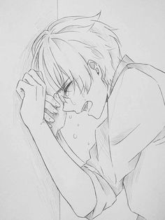 Marvelous Learn To Draw Manga Ideas. Exquisite Learn To Draw Manga Ideas. Boy Drawing, Manga Drawing, Manga Art, Anime Art, Manga Anime, Sad Drawings, Anime Drawings Sketches, Anime Sketch, Horse Drawings