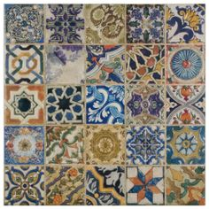 $37/ sq. ft. Merola Tile Avila Arenal Decor 12-1/2 in. x 12-1/2 in. Ceramic Floor and Wall Tile-FPM12ARD at The Home Depot