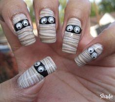 hallowen, nail design, nails - inspiring picture on Favim.com