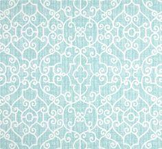 Designer Aqua Home Decor Fabric By The Yard Cotton Textured Stitch Fabric Cottage Fabric Curtain Fabric