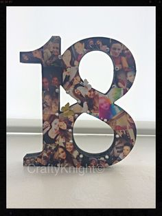 18th Birthday Present, Freestanding Number, Photo Present, 18th Keepsake…