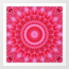 Mandala Rose petals Art Print Promoters - $20.00