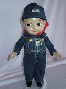 OUTSTANDING 1949 Hard Plastic Buddy Lee Advertising Doll from ~ GANDTIQUES ~ found @Doll Shops United http://www.dollshopsunited.com/stores/gand/items/1296754/OUTSTANDING-1949-Hard-Plastic-Buddy-Lee-Advertising #dollshopsunited