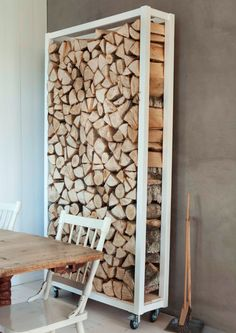 Wood rack by  photographer Trine Thorsen