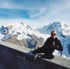 Whitney from The Bar Method San Diego does pretzel in Switzerland with a gorgeous backdrop! #WhereDoYouBar?